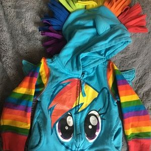 Other - Rainbow Dash Hoodie with Wings and Mane! 2T